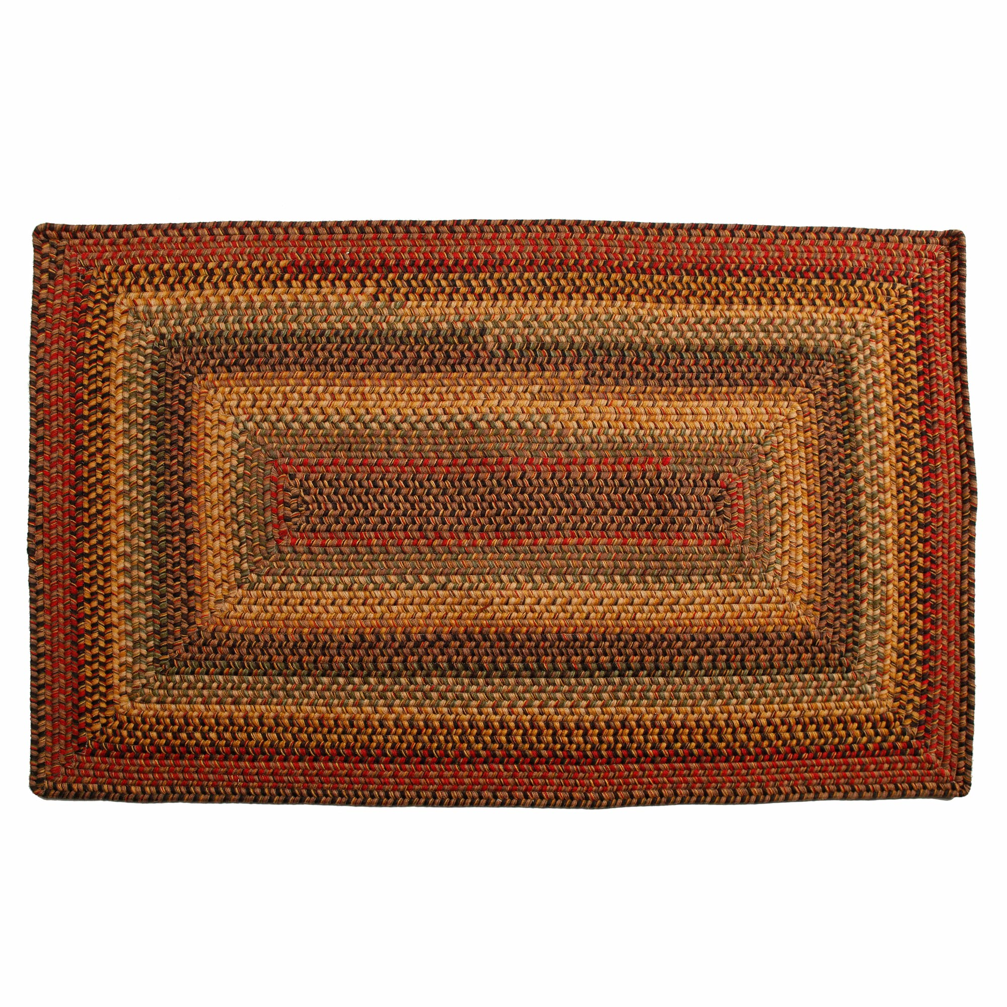 Braided Rugs: Homespice Primitive Wool Braided Area Rugs Oval Rectangle