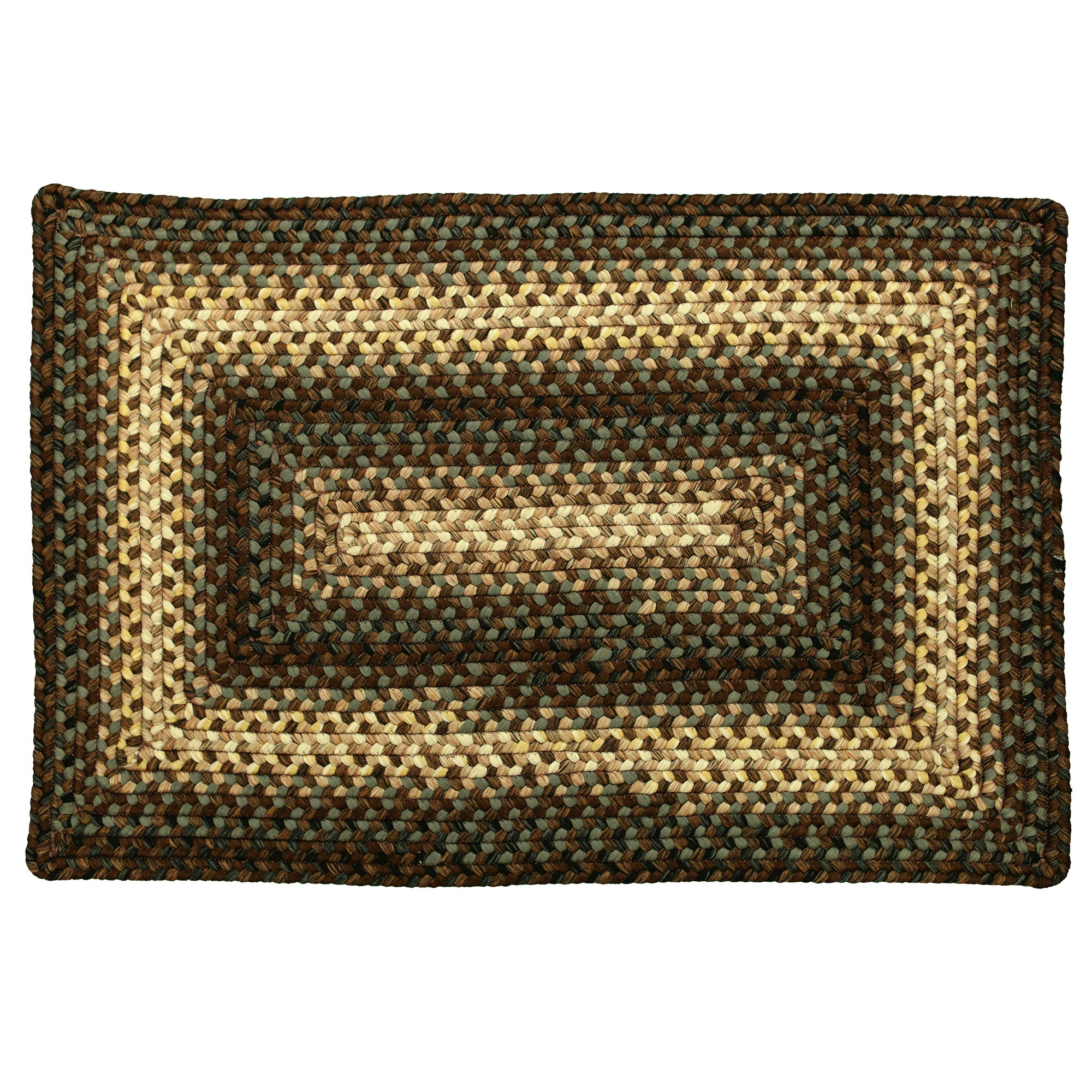 Brown And Black Country Braided Rug 20x30 To 8x10 Oval