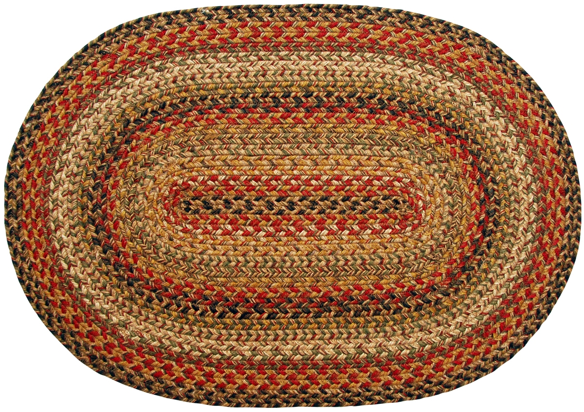 Homespice Decor Kingston Jute Braided Area Rug Red Ebay