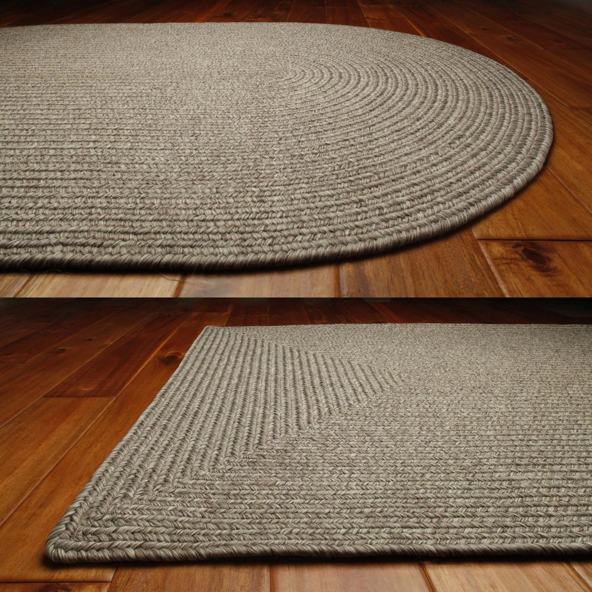 Solid Braided Area Rugs Indoor Outdoor Oval Rectangle - photo#43