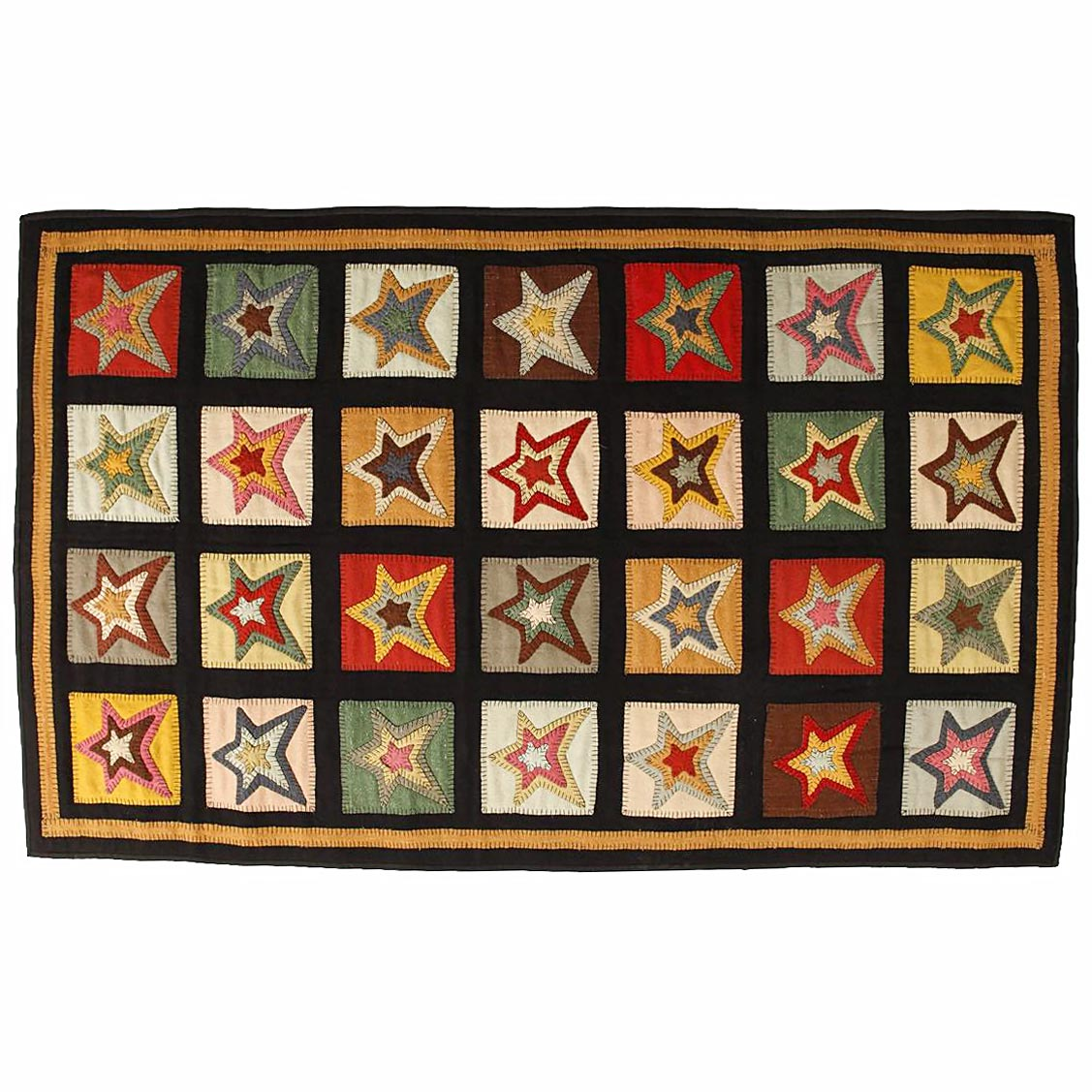Homespice primitive area rugs rectangle 2x3 8x10 star for Garden room 2x3