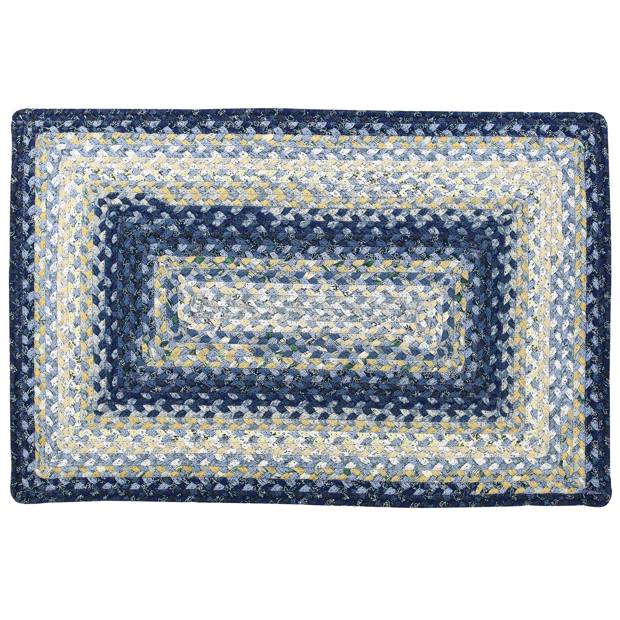 Wedgewood Coastal Cotton Braided Area Throw Rugs Oval And