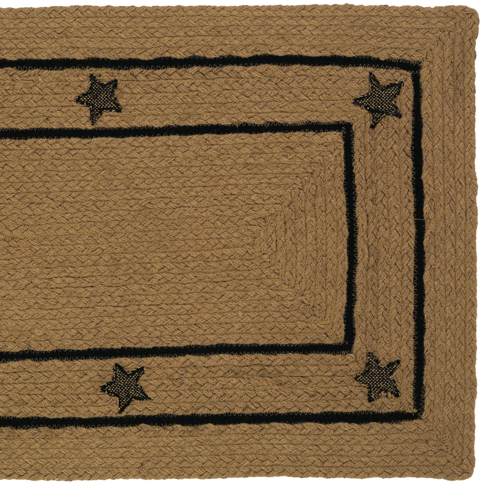High Quality Braided Rug Burlap Star Jute Country Primitive IHF