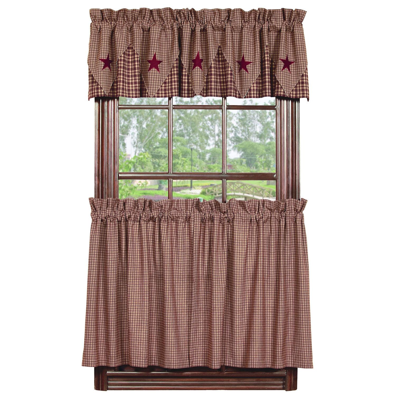 Sturbridge Tier Window Treatments: Vintage Star Curtain Tiers