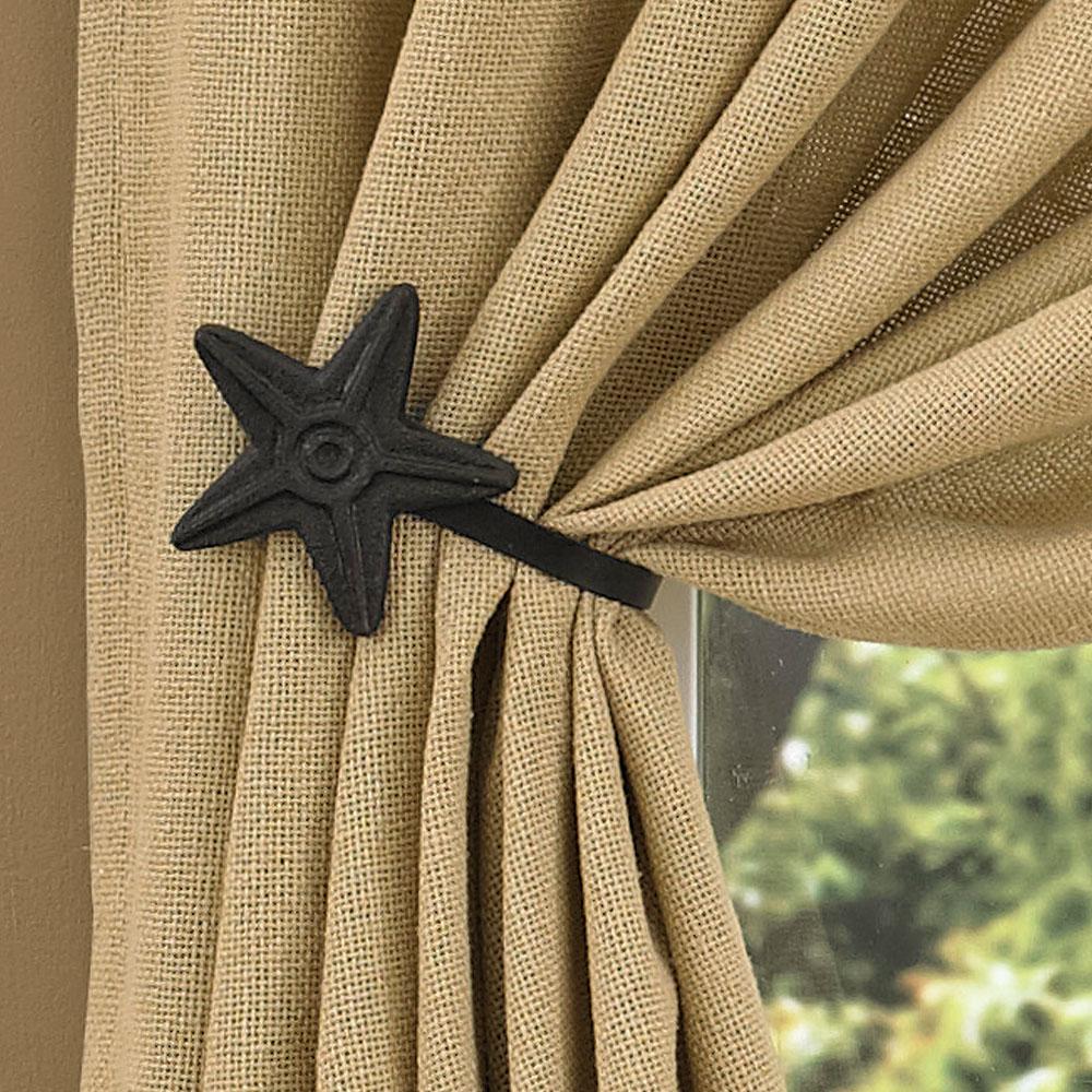 black curtain tie backs by park designs set of 2