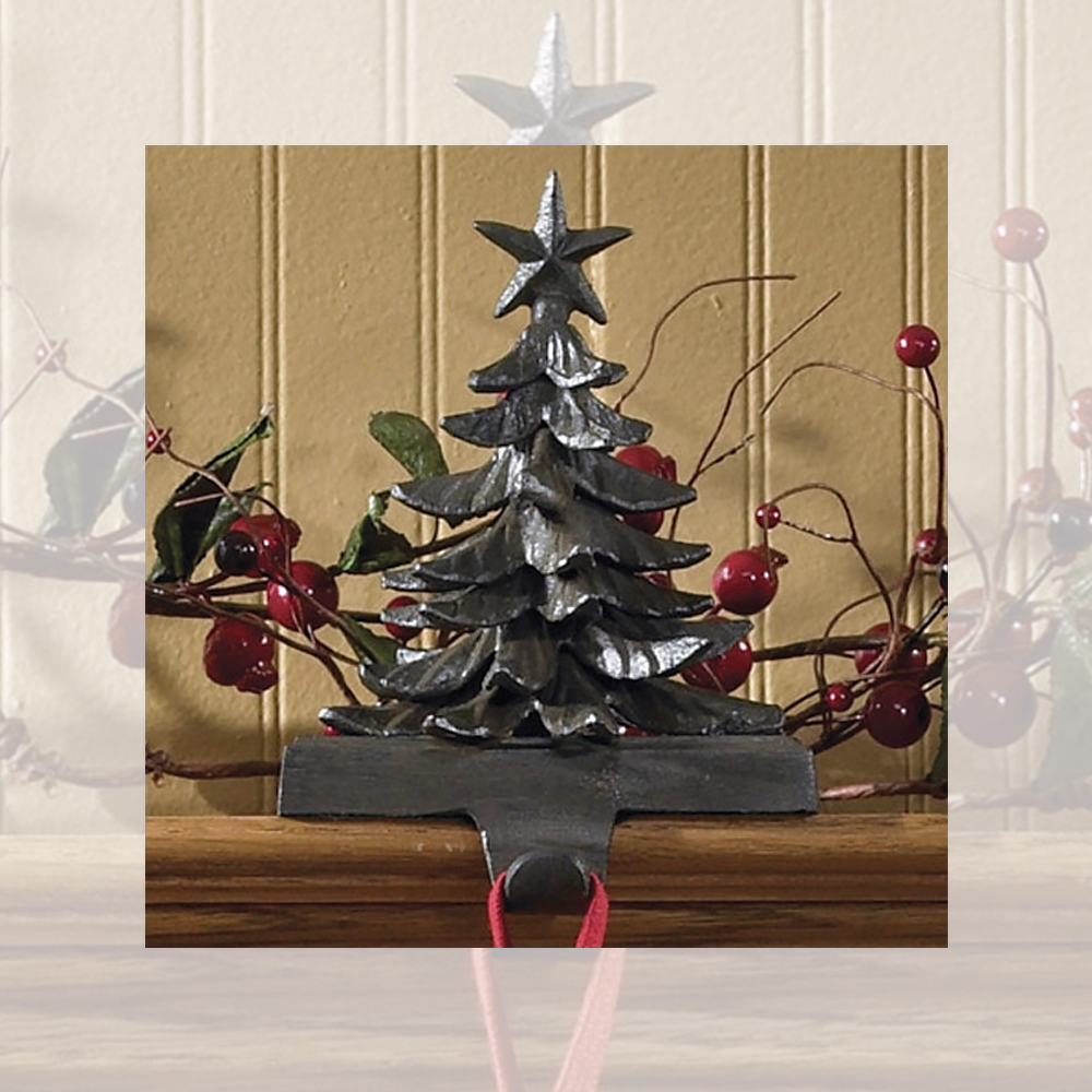 Christmas Tree Stocking Holder.Details About Christmas Tree Vintage Stocking Holder Hanger Heavy Cast Iron Park Designs