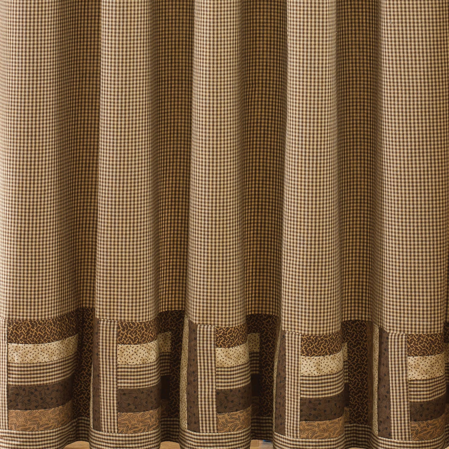 Country Shades Of Brown Shower Curtain Brown Tan 72x72 Cotton eBay