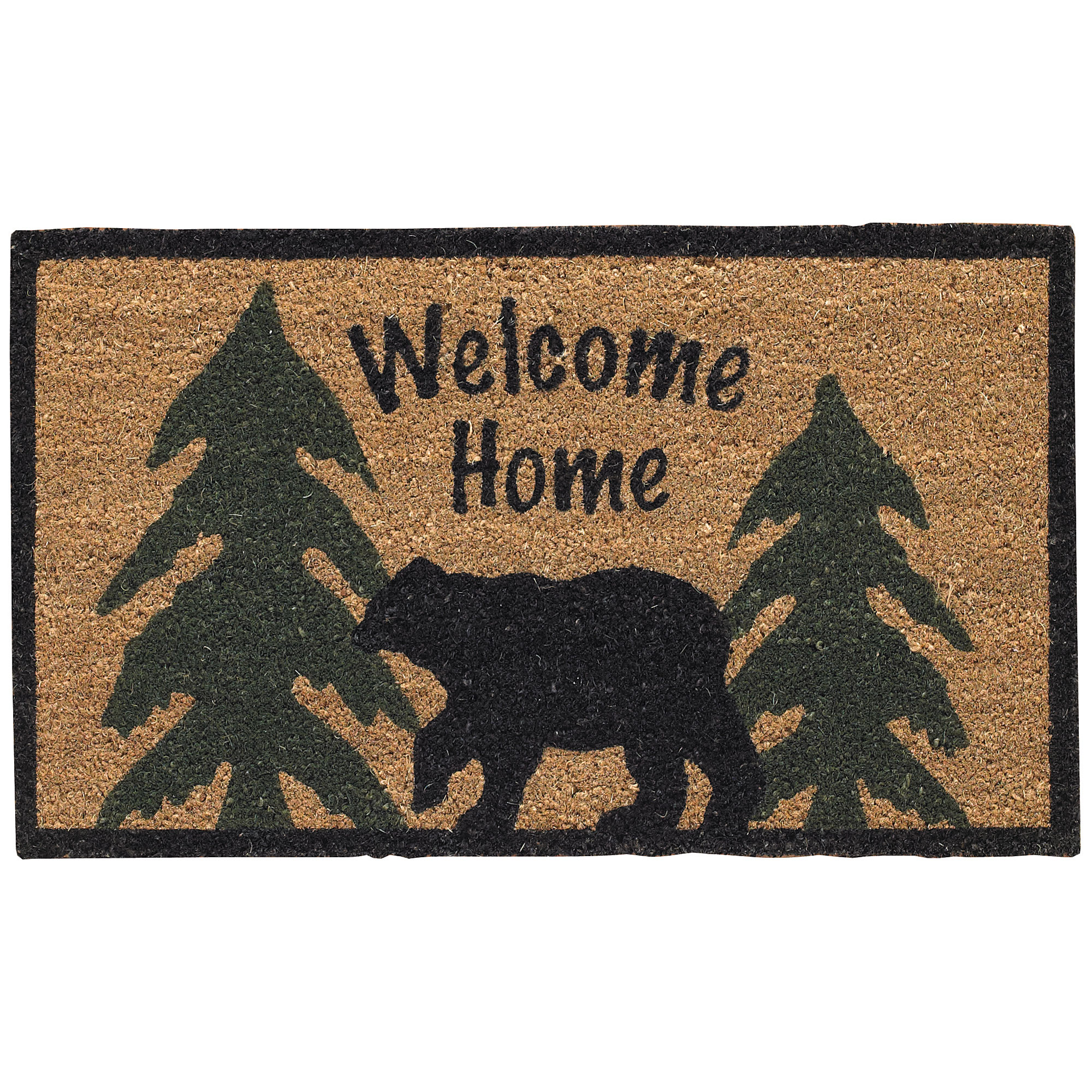 welcome home black bear doormat | ebay