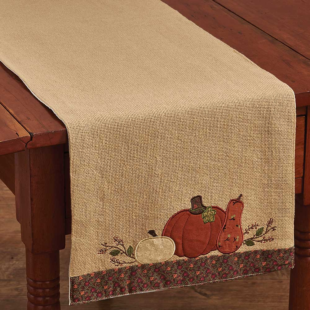 Nice Pumpkin Harvest Table Runner
