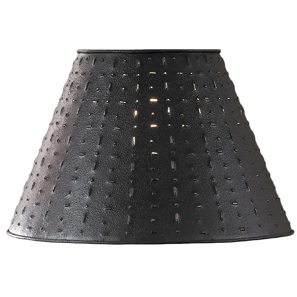 Punched Tin Lamp Shade Dot Dash Pattern By Park Designs