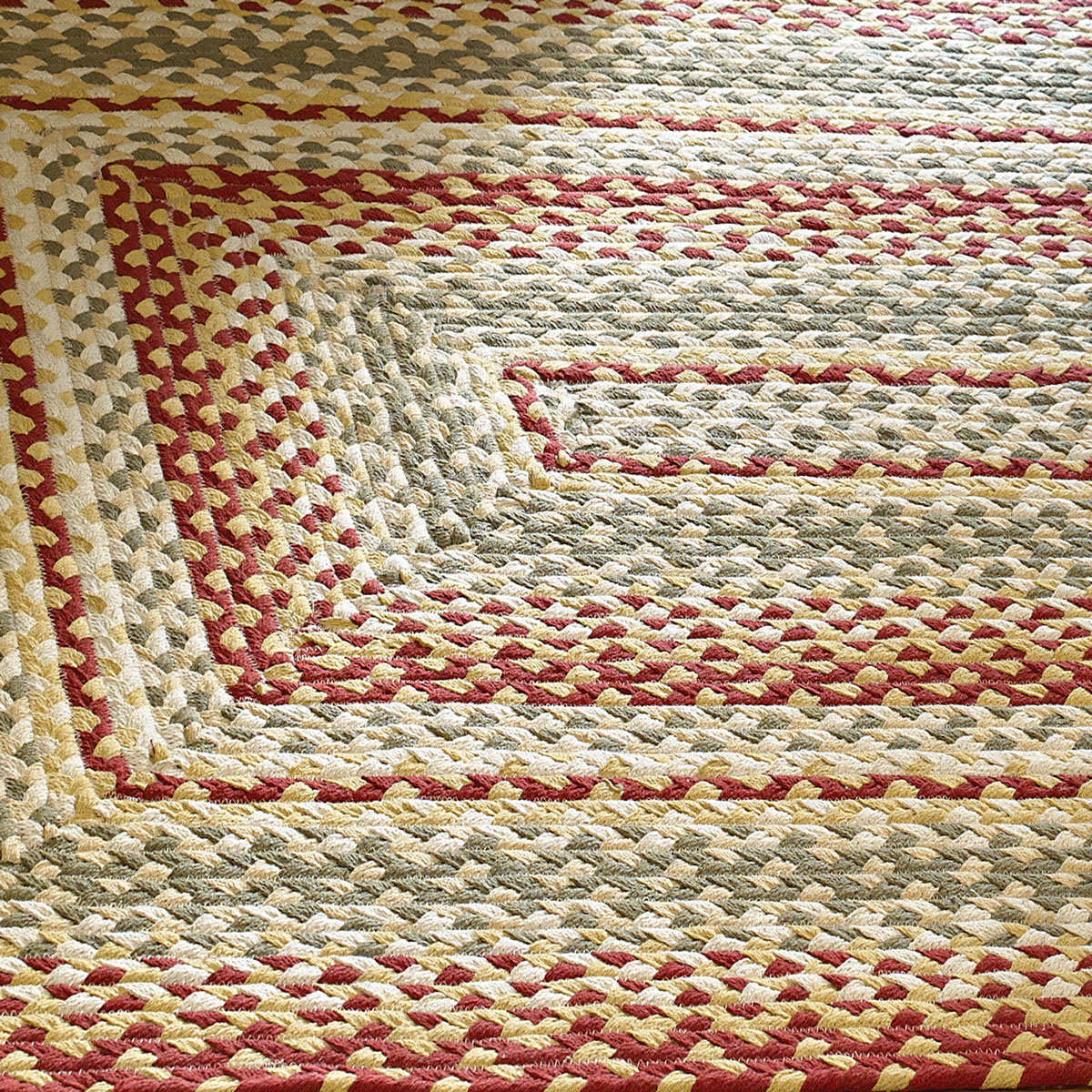 Park Designs Cotton Braided Area Rug Red Green Ebay