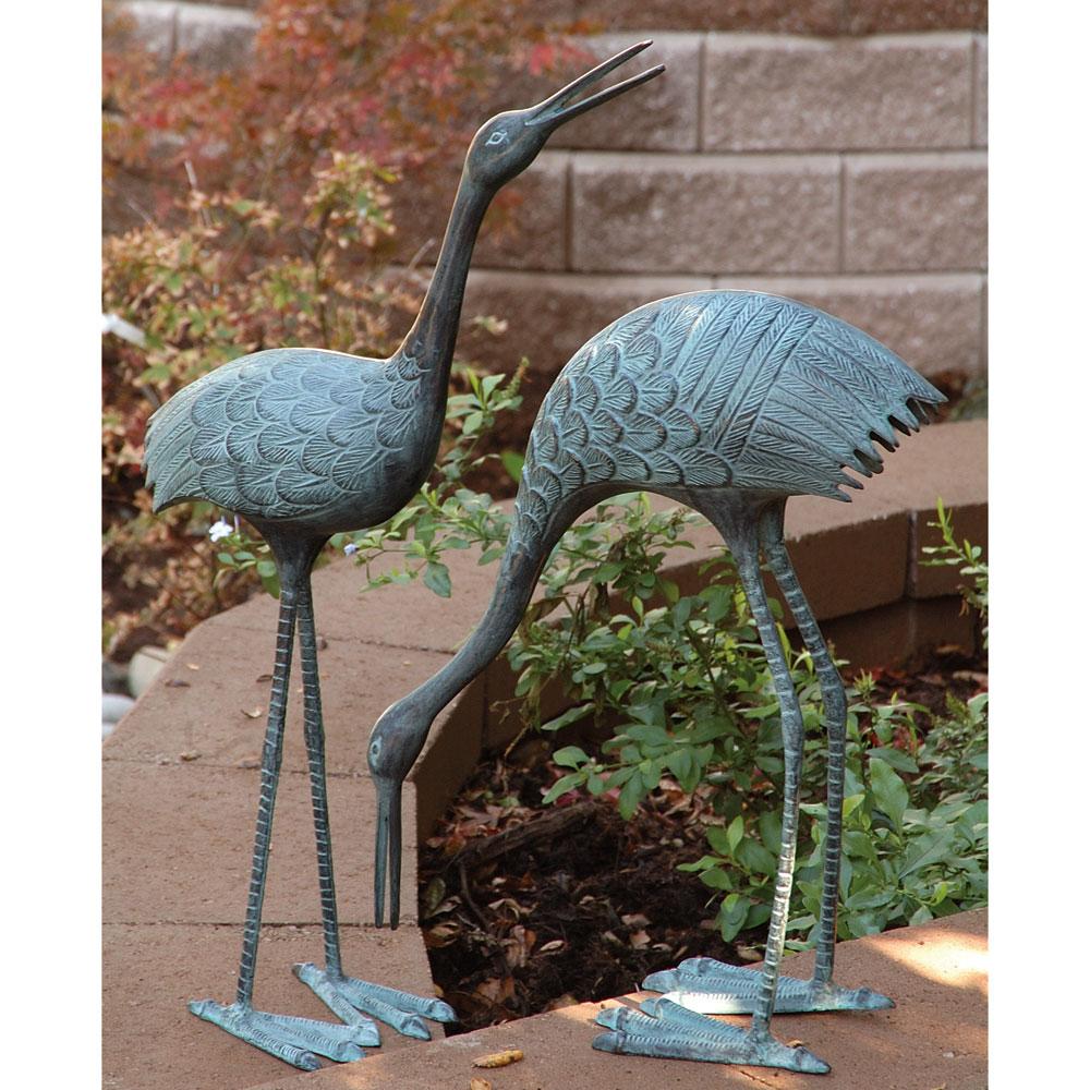 Merveilleux Stately Garden Cranes Set