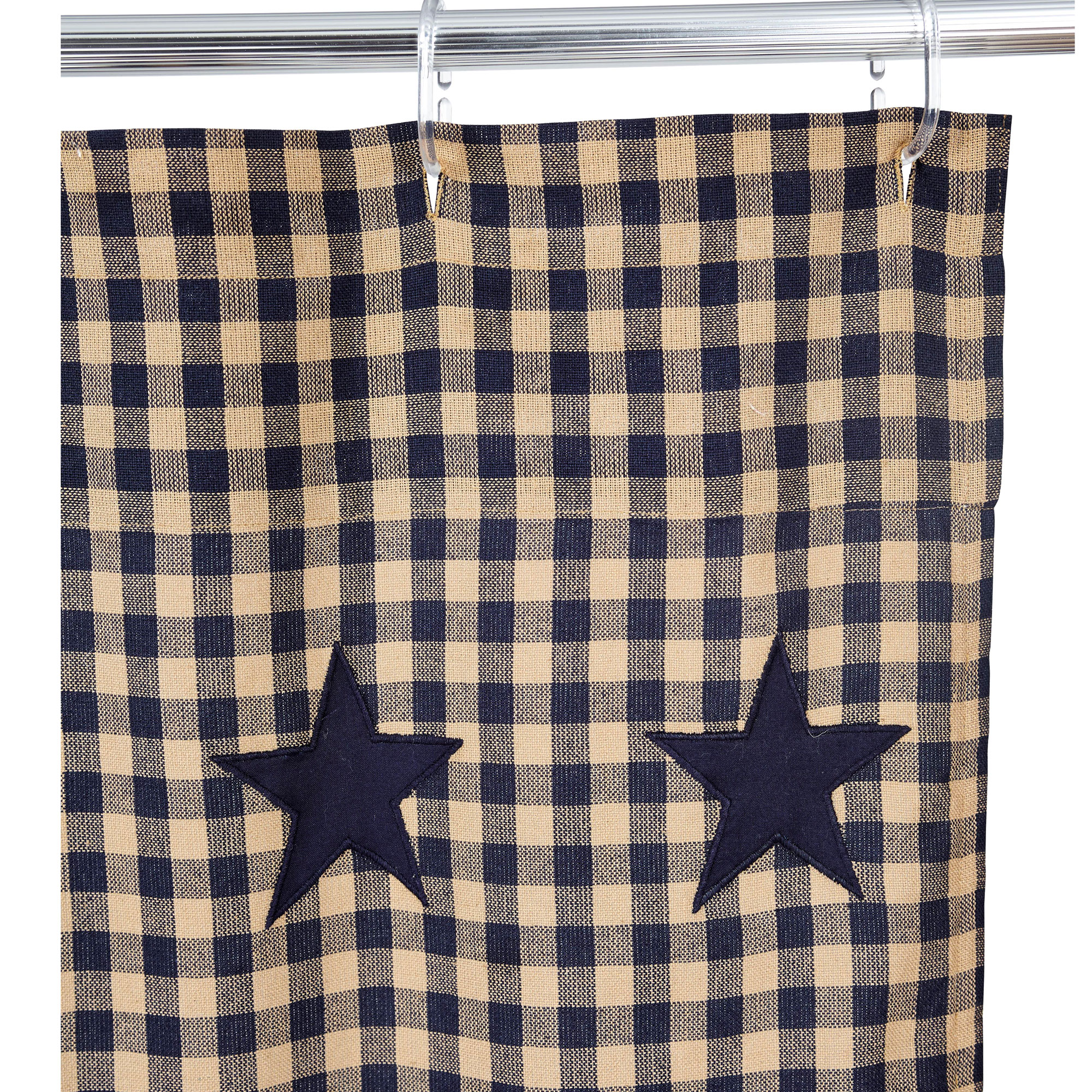 Star Scalloped Shower Curtain