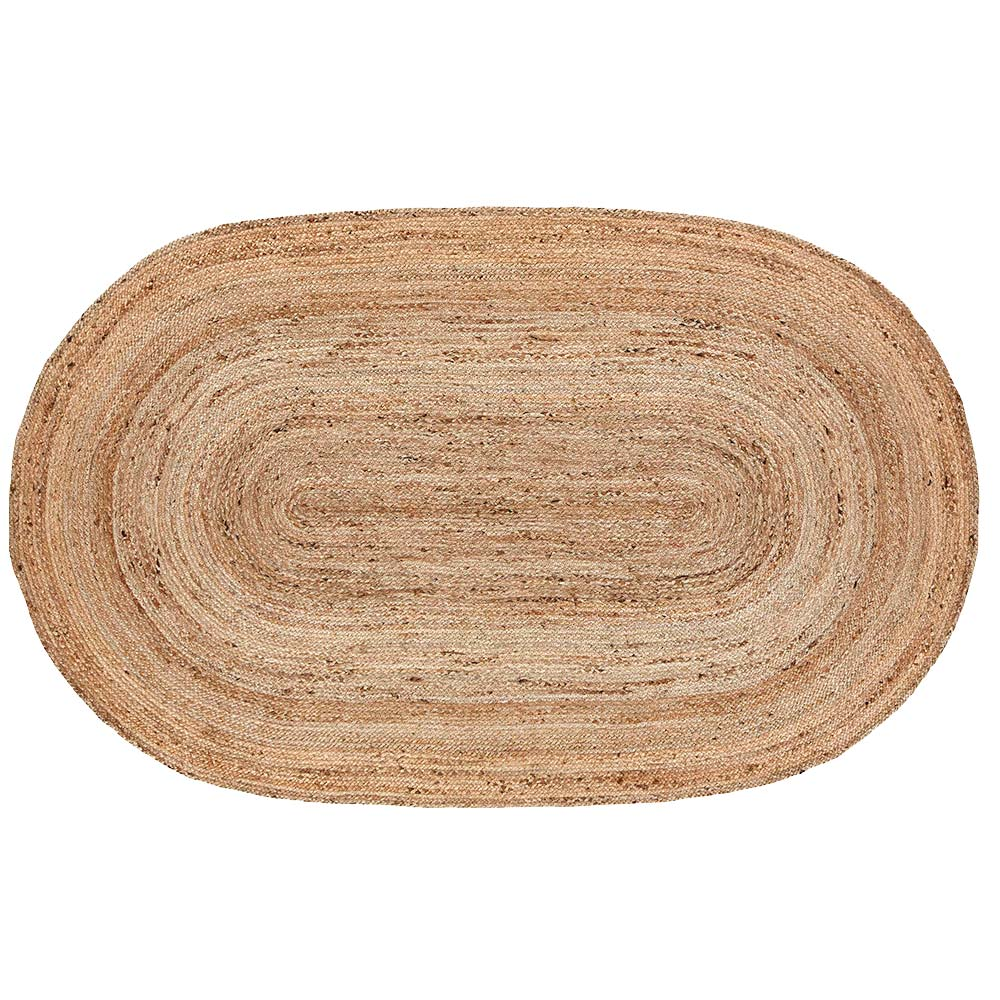 wonderful Half Oval Rug Part - 8: Natural Jute Braided Rug Available in Oval or Half Circle