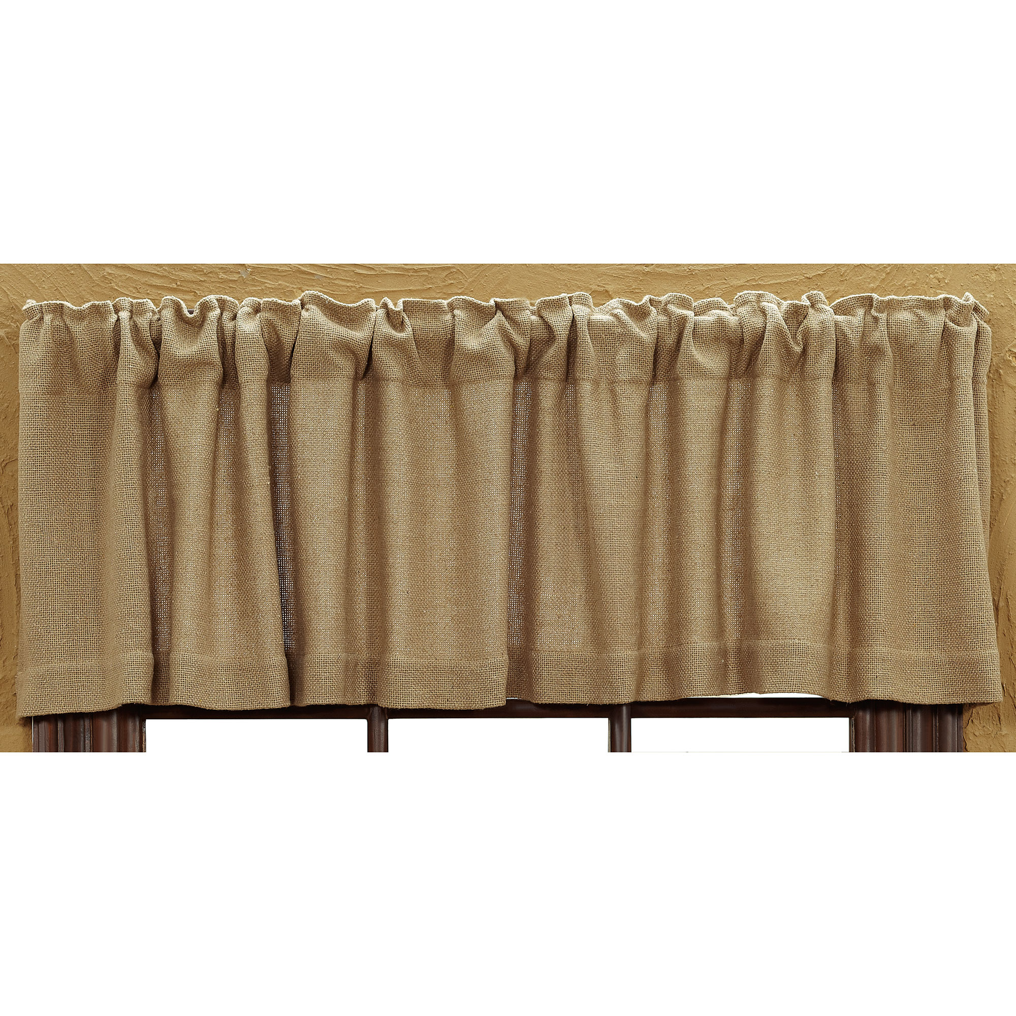 Burlap Valances For Windows : Burlap natural valance ebay