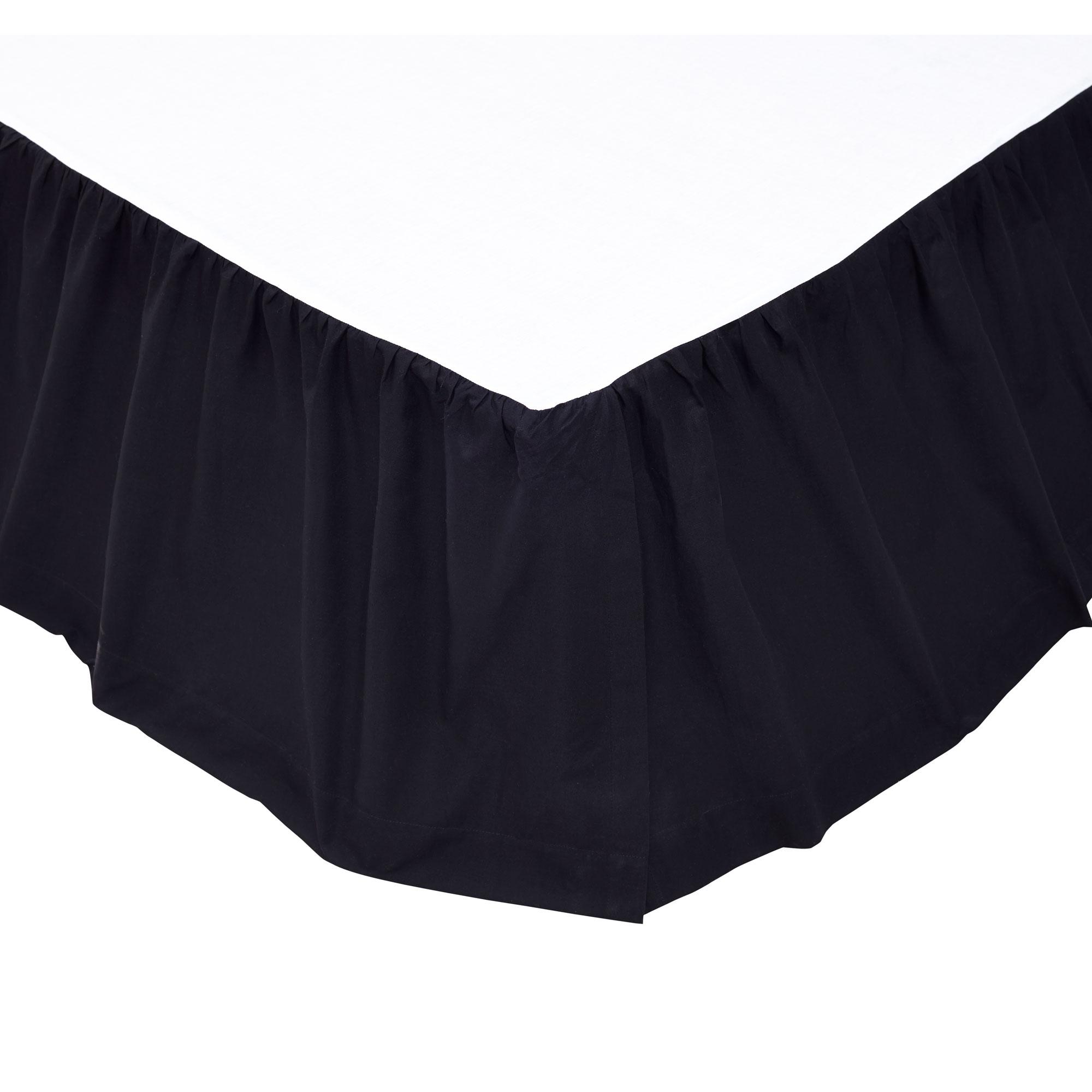 Ashton Willow 17925 Solid Black King Bed Skirt 78x80x16 Ebay