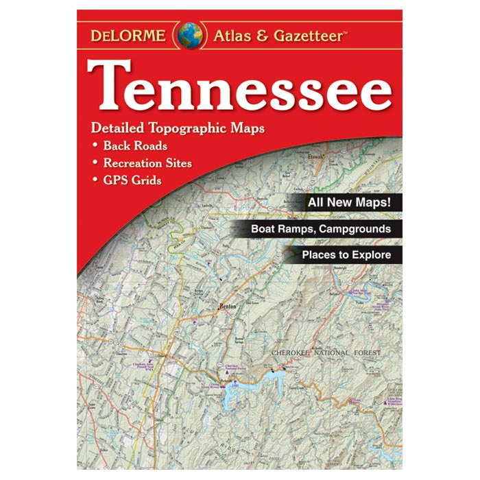 Details About Delorme Tennessee Topographical Road Atlas Gazetteer