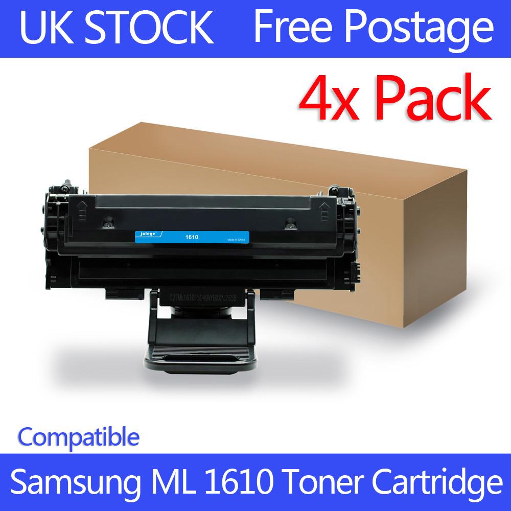 4x toner cartridges for samsung ml 1610 ml 2010 ml 2010r ml 2510 ml 2571n uk y. Black Bedroom Furniture Sets. Home Design Ideas
