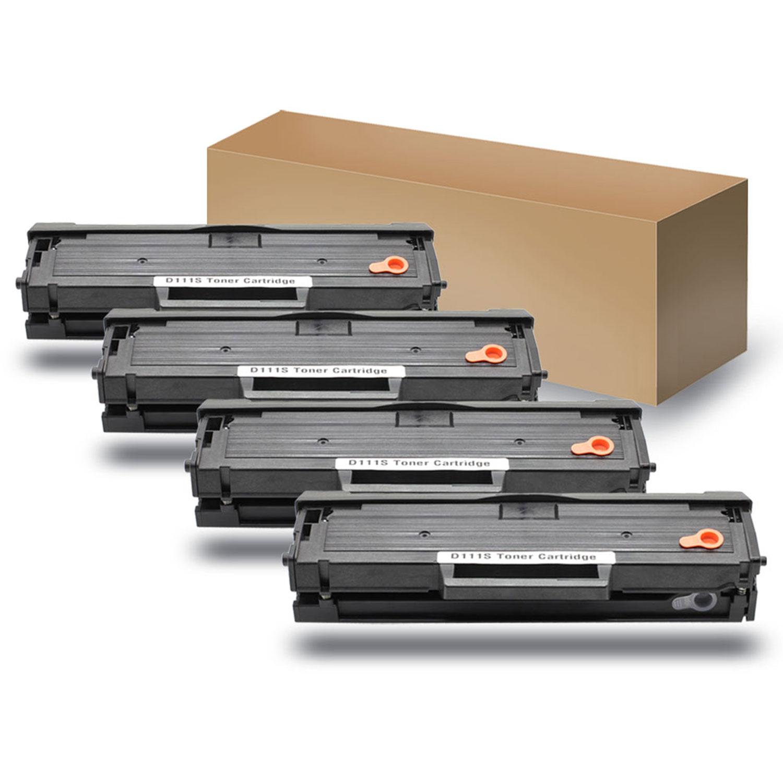 4pack black toner cartridge replace for mlt d111s xpress sl m2022w sl m2070w. Black Bedroom Furniture Sets. Home Design Ideas
