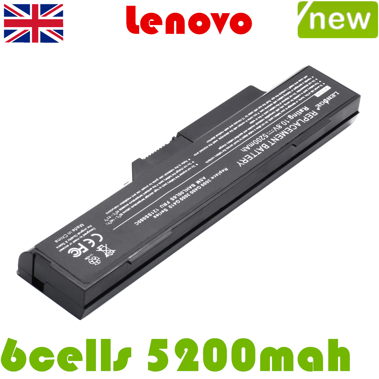 Rechargeable Battery For Lenovo 3000 G400 59011 2048 3000