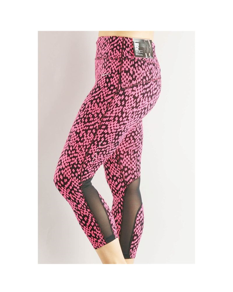 Nike Epic Lux Printed w/Mesh Dri-Fit Tights Running Crops Pants ...