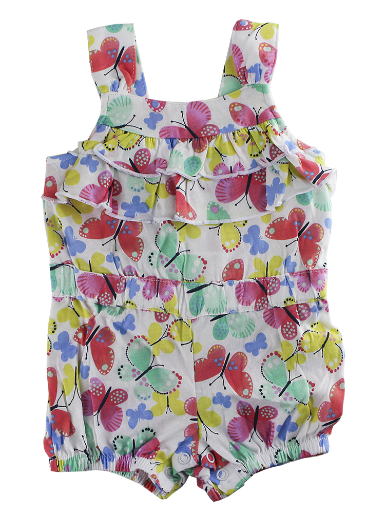 83ca498fee45 First Impressions Baby Girls Multicolor Butterflies-Print Romper