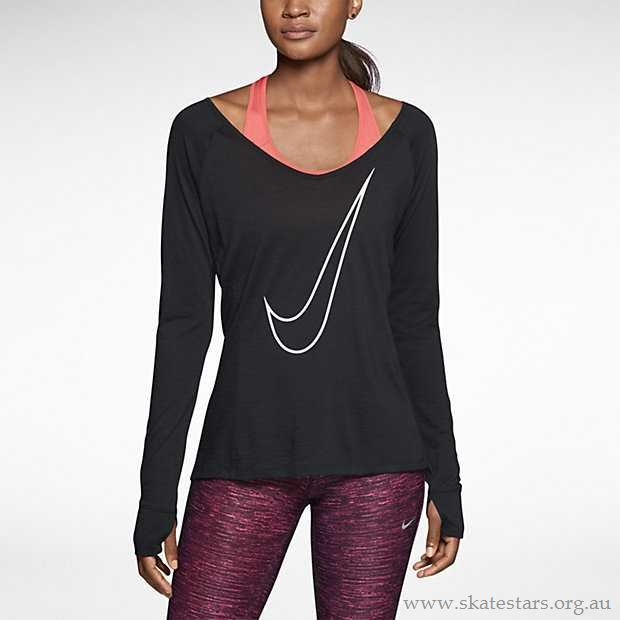 89e03d398 Nike Pro Dri-FIT Lux Long-Sleeve Women's Running V-Neck Shirt 618115 ...
