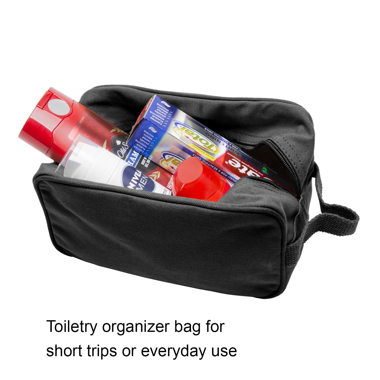 TEAM-INSTINCT-Canvas-Shower-Kit-Travel-Toiletry-Bag-Case thumbnail 4