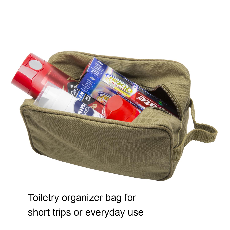 TEAM-INSTINCT-Canvas-Shower-Kit-Travel-Toiletry-Bag-Case thumbnail 9