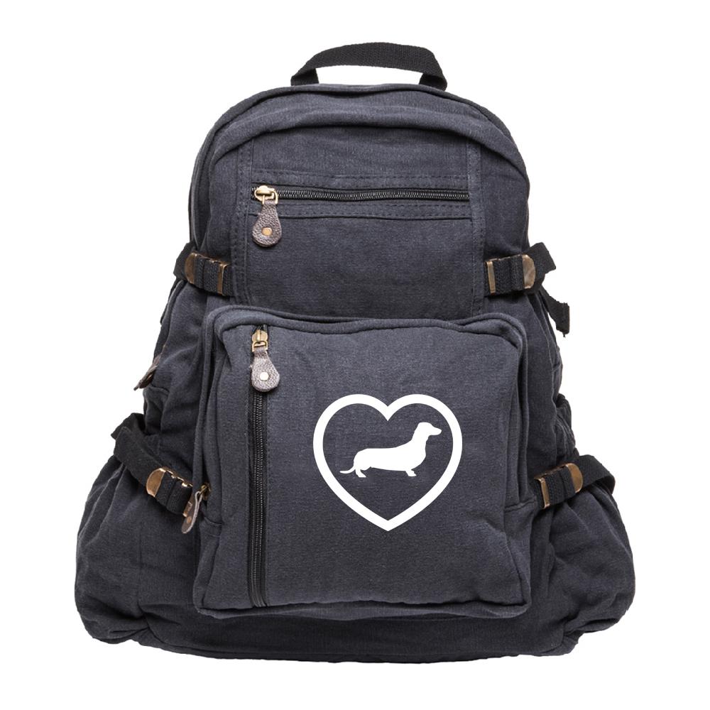Dachshund Heavyweight Canvas Backpack Bag