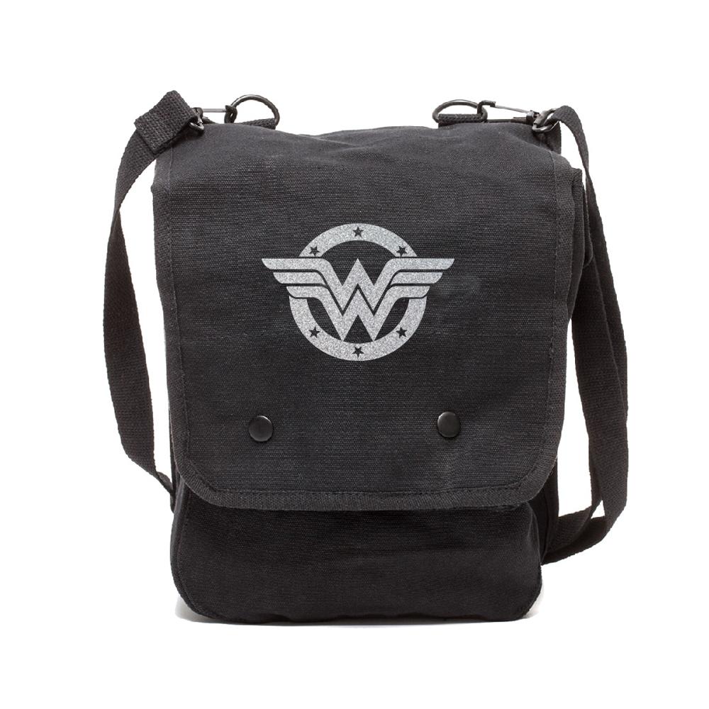Wonder Woman Logo Canvas Crossbody Travel Map Bag Case Ebay