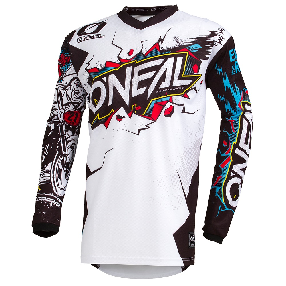 ONEAL ELEMENT Youth Jersey Villain White image