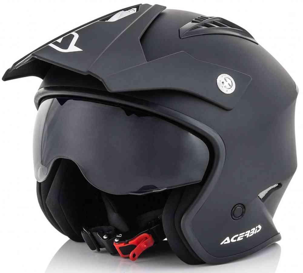 Acerbis Jet Aria Trials 2018 Off Road Helmet - with legal drop down sun visor