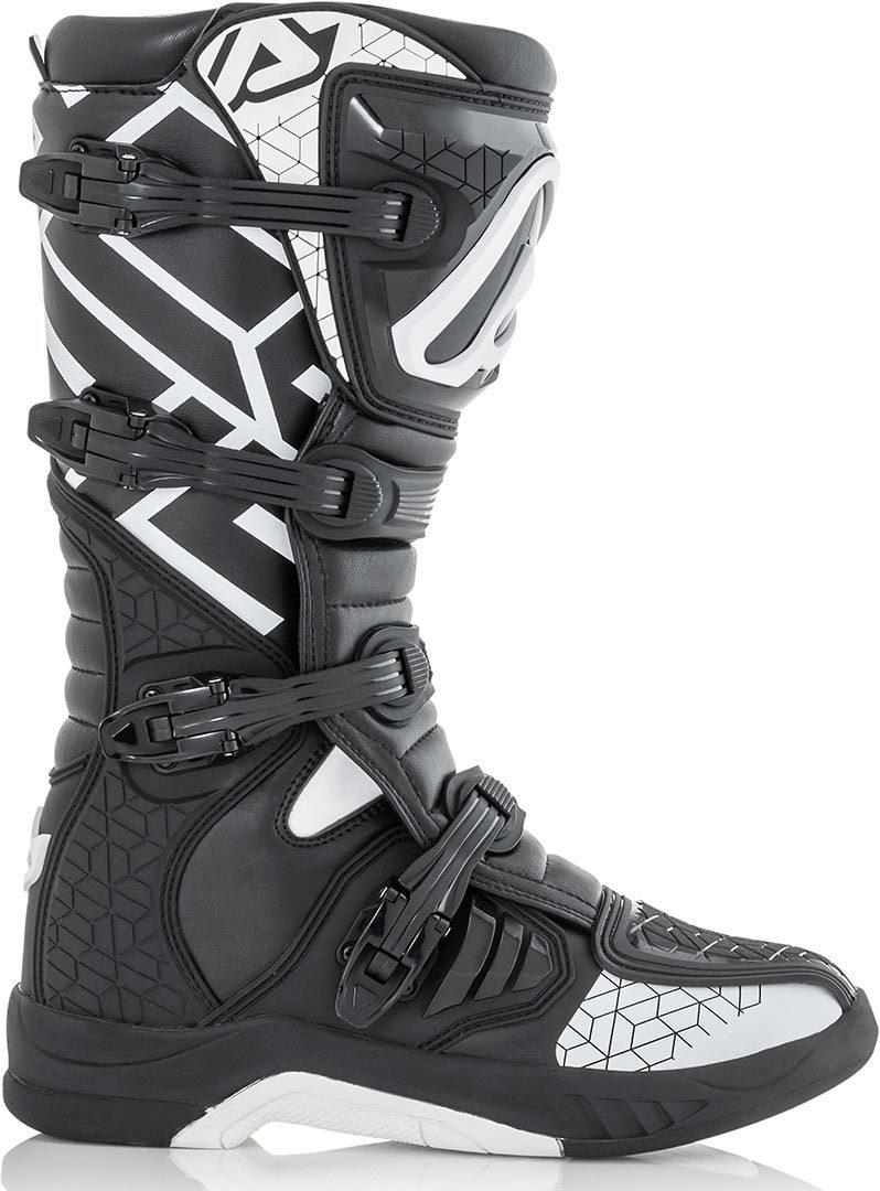 Acerbis X-Team Motocross MX Boots - Black White