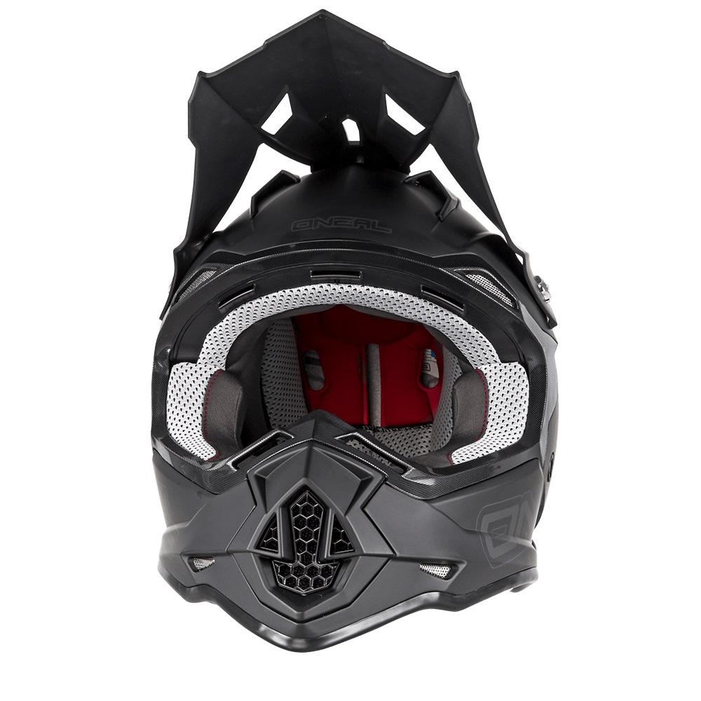 ONEAL Flat Black RL 2 Series Motocross Helmet