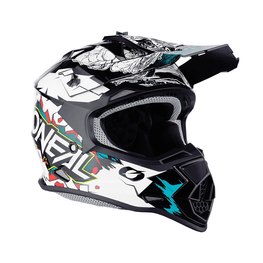 ONEAL 2Series YOUTH HELMET VILLAIN WHITE