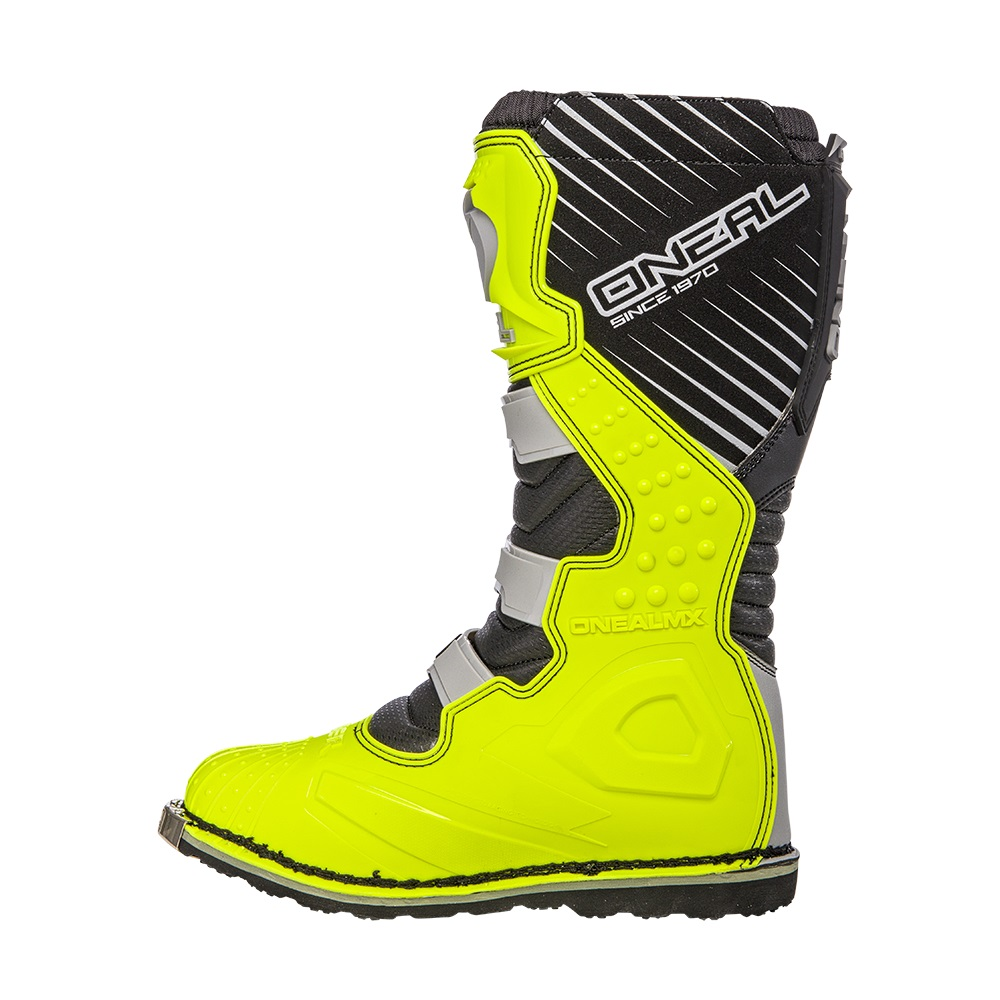 ONEAL Rider Boots Grey & Neon Yellow