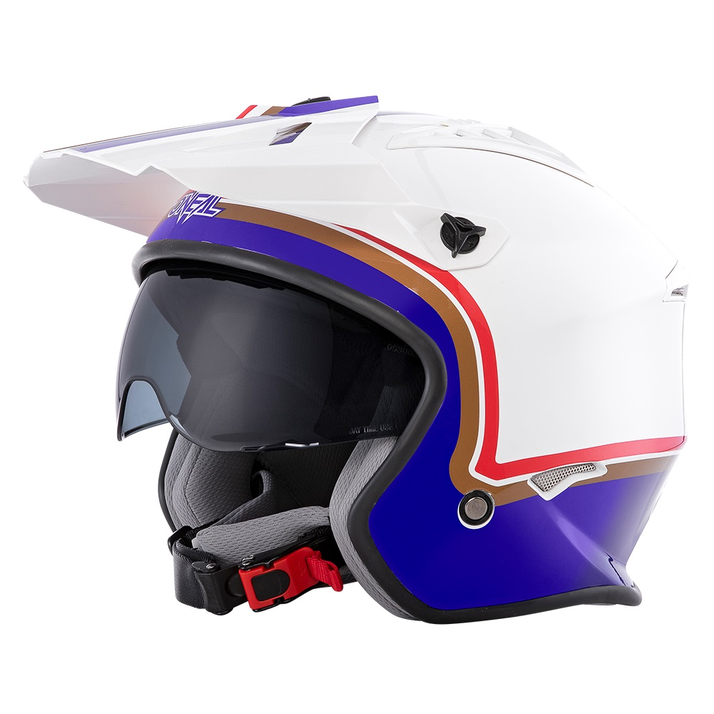ONEAL Volt Trials Helmet Rothmans - With Drop Down Sun Visor