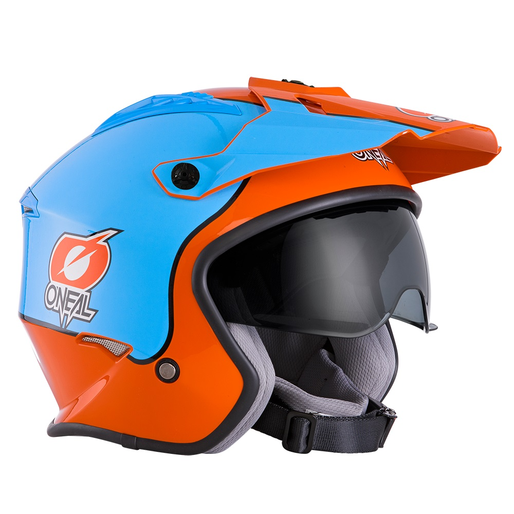 ONEAL Volt Trials Helmet Gulf - With Drop Down Sun Visor