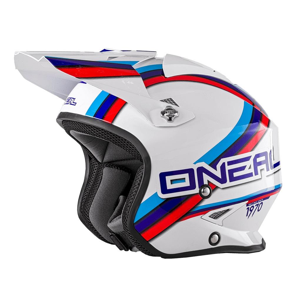 ONEAL Slat Trials Helmet (Black / White/ Red)