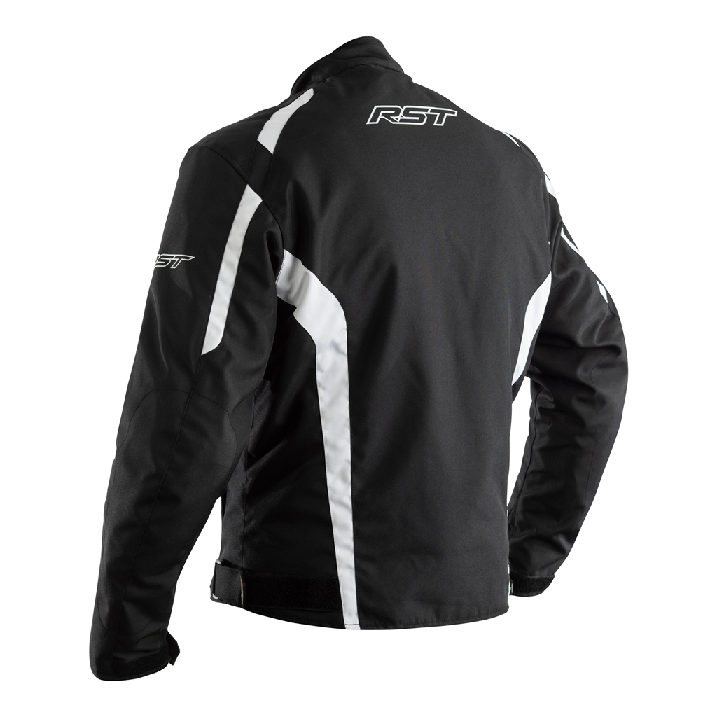 RST Rider CE Men's Textile Jacket - Black/White