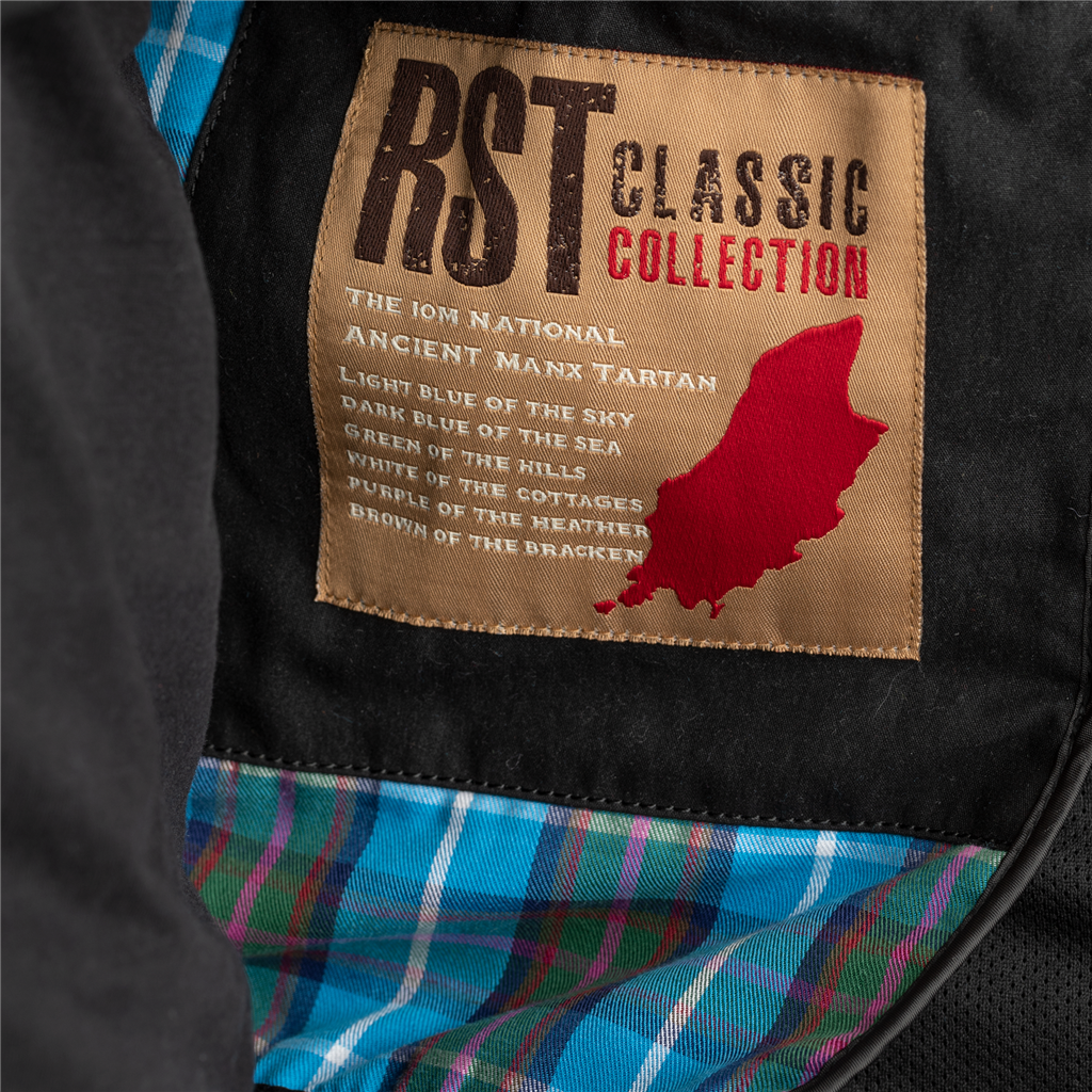 RST IOM Classic TT Wax Short III CE Men's Textile Jacket - Black