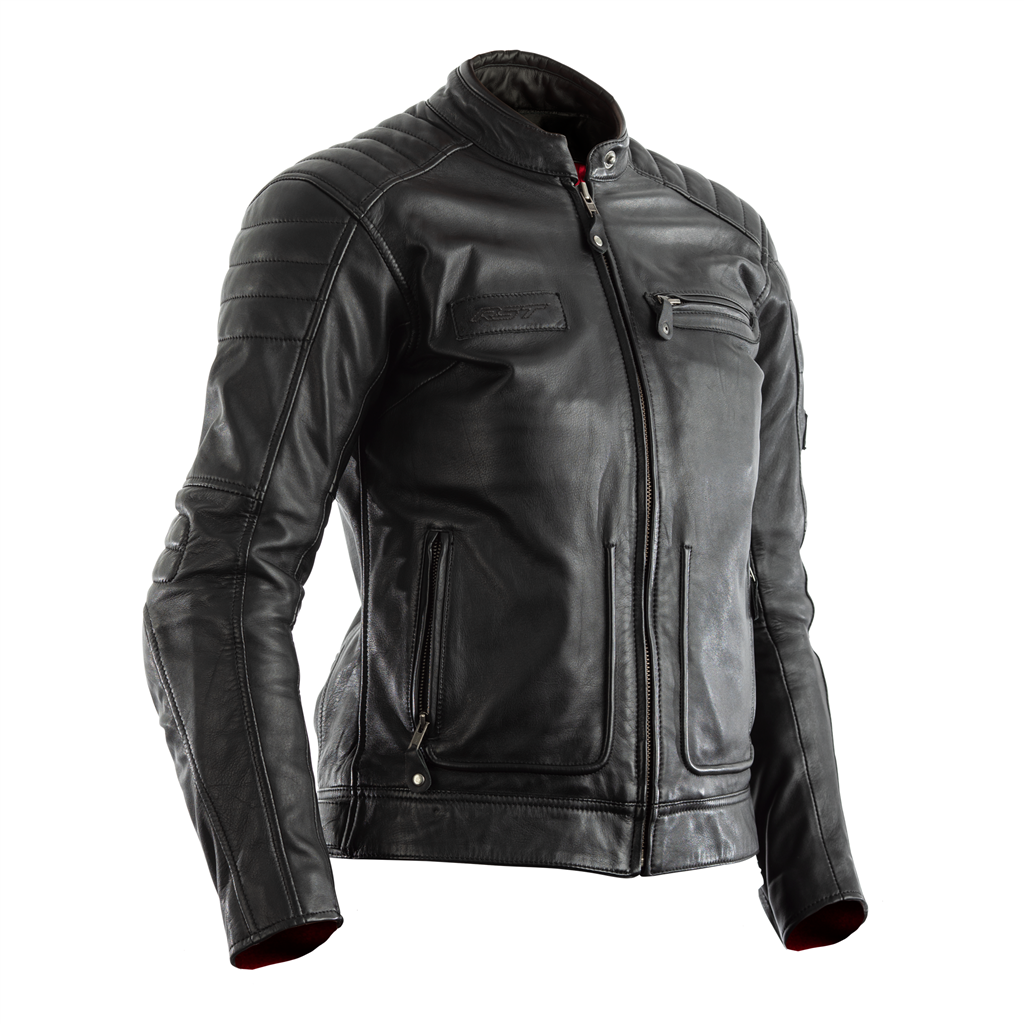 RST Roadster II CE Ladies Leather Jacket - Black