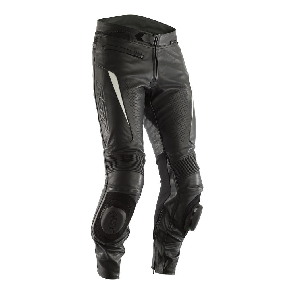 RST GT CE Men's Leather Jean - Black/White