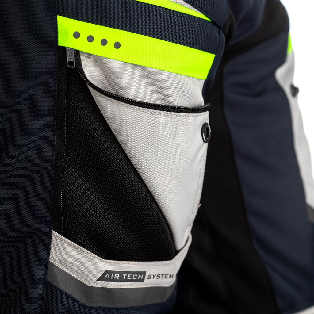 RST Maverick Mens Motorcycle Jacket (Blue/Neon)