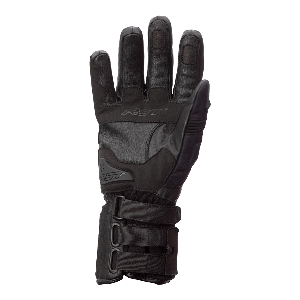 RST X-Raid Waterproof Motorcycle Gloves CE (Black/Black)
