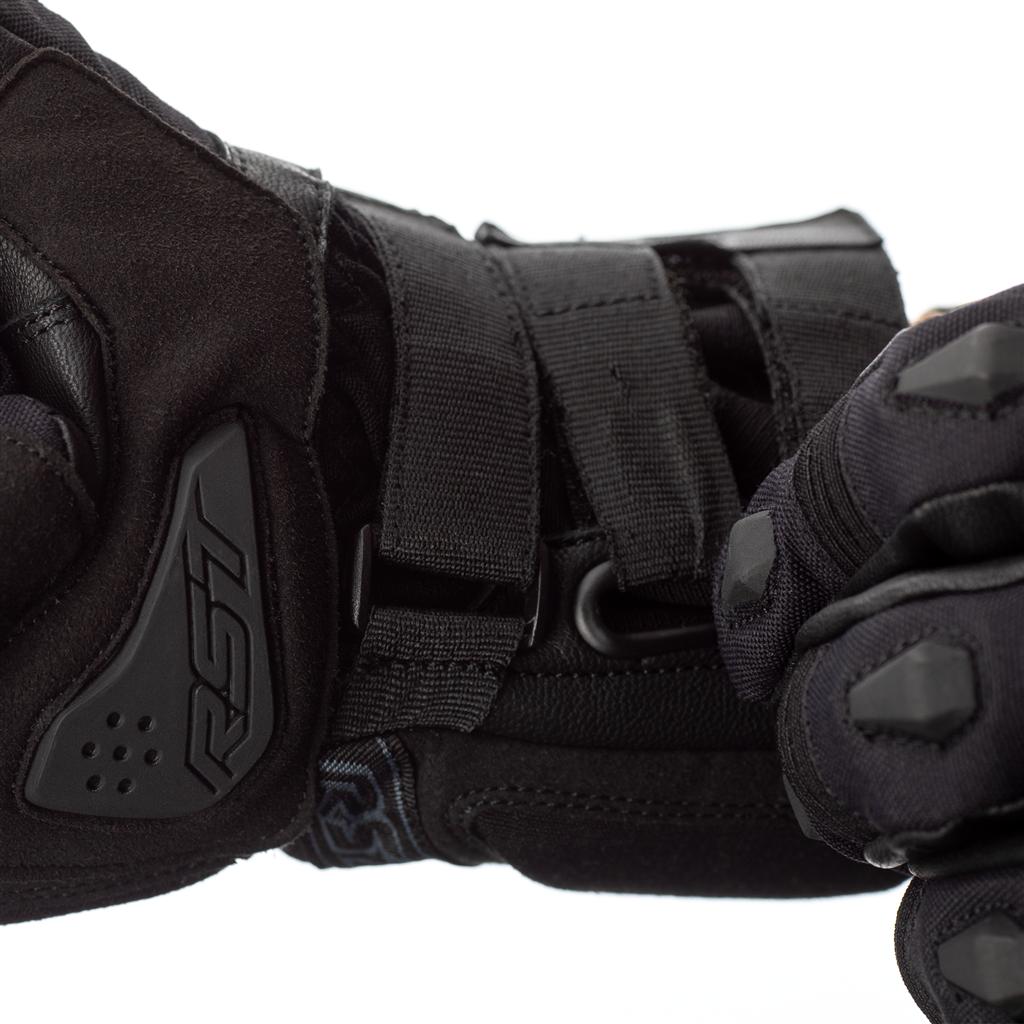 RST X-Raid Waterproof Motorcycle Gloves CE (Black/Black)