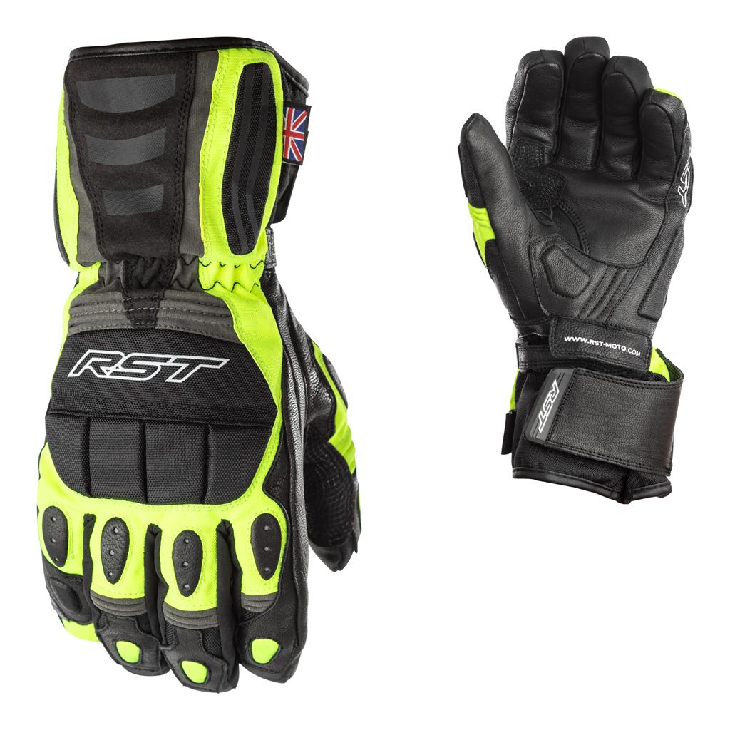 RST Storm WP CE Men's Glove - Black/Flo Yellow