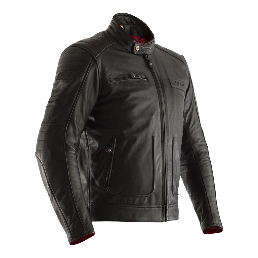 RST Roadster 2 Leather Motorcycle Jacket CE (Black)