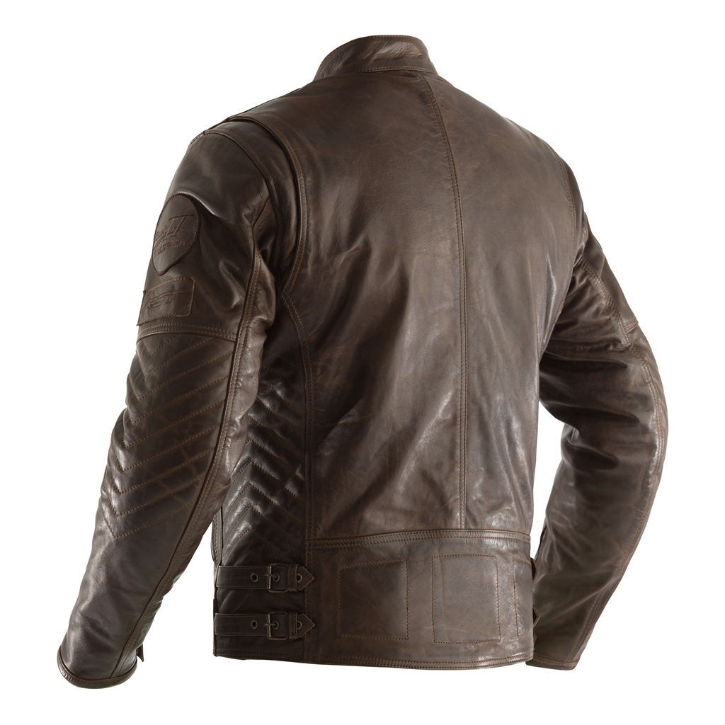 RST Classic TT Retro II CE Men's Leather Jacket - Brown
